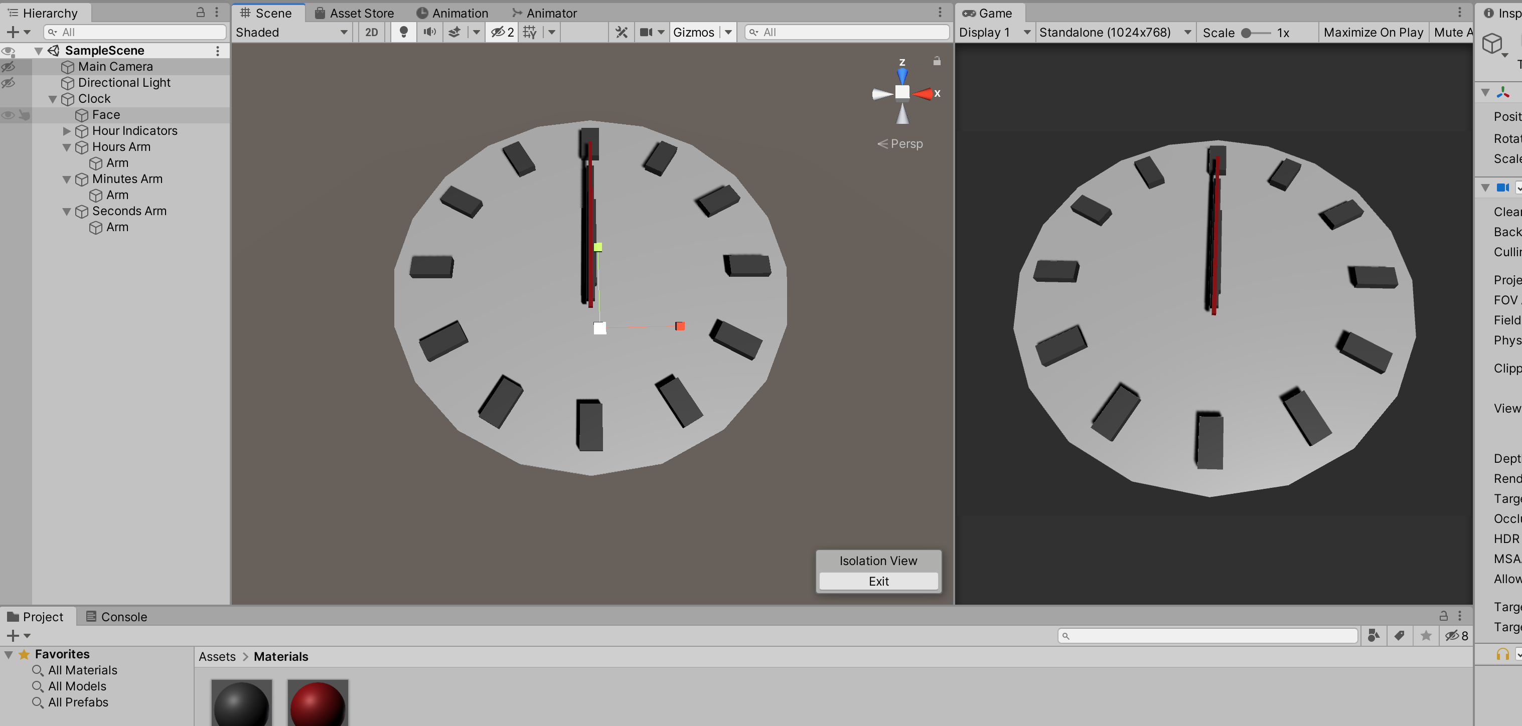 Learning Project: Building a Functioning Clock in Unity